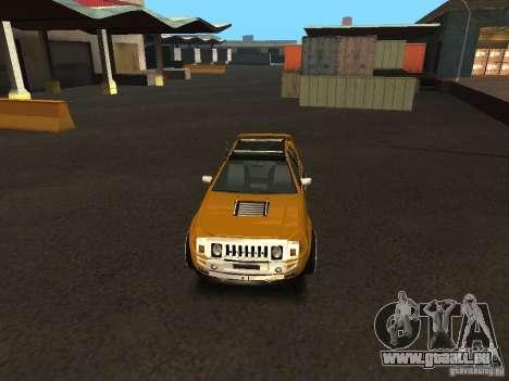 Hummer H0 pour GTA San Andreas vue de droite