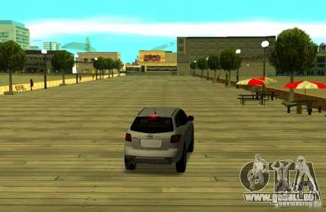 Mazda CX7 pour GTA San Andreas sur la vue arrière gauche