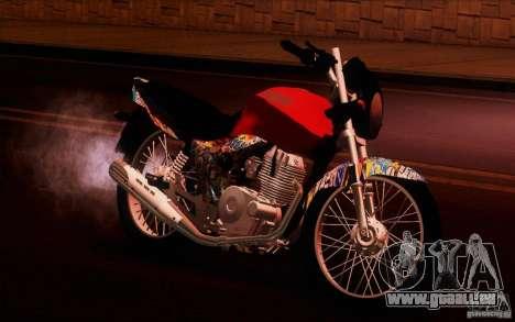 Yamaha YBR für GTA San Andreas zurück linke Ansicht