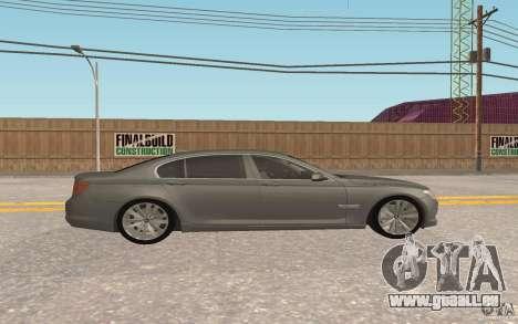 BMW 730d pour GTA San Andreas vue intérieure