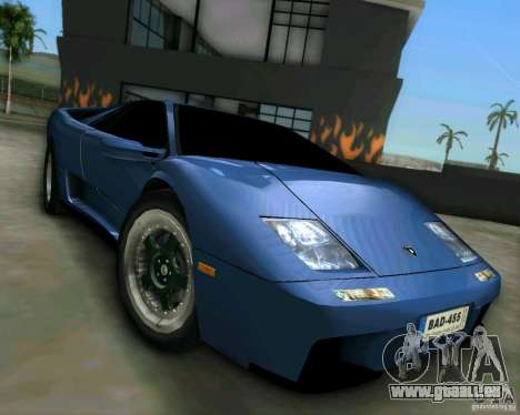 Lamborghini Diablo für GTA Vice City zurück linke Ansicht