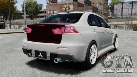 Mitsubishi Lancer Evolution X ToneBee Designs für GTA 4 hinten links Ansicht