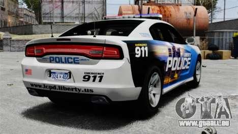 Dodge Charger 2013 Police Code 3 RX2700 v1.1 ELS pour GTA 4 Vue arrière de la gauche
