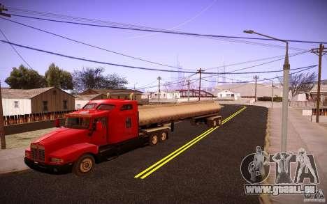 Kenworth T600 für GTA San Andreas zurück linke Ansicht