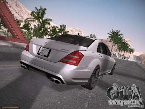 Mercedes Benz S65 AMG 2012 pour GTA San Andreas vue de droite