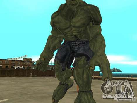 Hulk Skin pour GTA San Andreas troisième écran