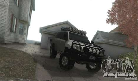 Toyota Land Cruiser 200 Off Road v1.0 pour GTA San Andreas vue arrière