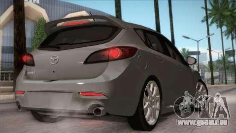 Mazda Mazdaspeed3 2010 für GTA San Andreas Seitenansicht