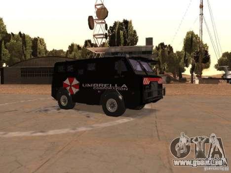 AM 7.0 Umbrella Corporation pour GTA San Andreas vue intérieure