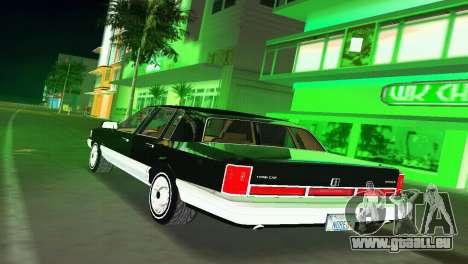 Lincoln Town Car 1997 für GTA Vice City zurück linke Ansicht