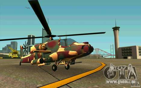 Hunter Armee Look für GTA San Andreas linke Ansicht