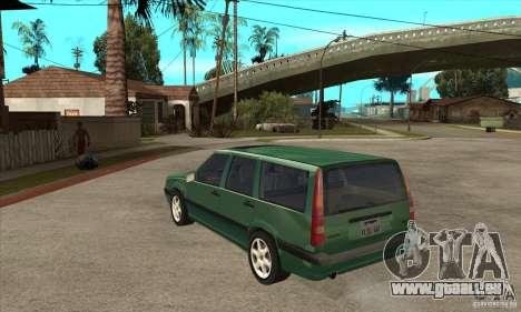 Volvo 850 GLT pour GTA San Andreas sur la vue arrière gauche