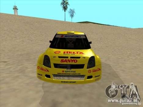 Suzuki Rally Car pour GTA San Andreas vue arrière