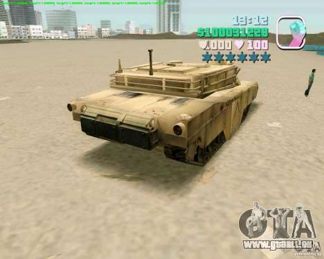 M 1 A2 Abrams pour GTA Vice City cinquième écran