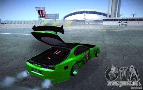 Toyota Supra Tuned pour GTA San Andreas vue intérieure