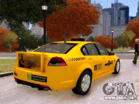 Holden NYC Taxi V.3.0 pour GTA 4 est une gauche