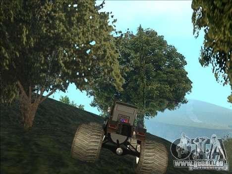 Monsterous Truck für GTA San Andreas zurück linke Ansicht