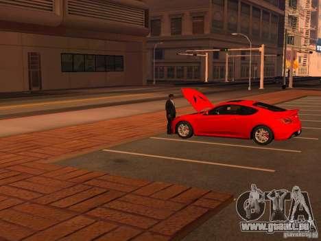 Hyundai Genesis Coupé 3.8 piste v1.0 pour GTA San Andreas vue de dessous