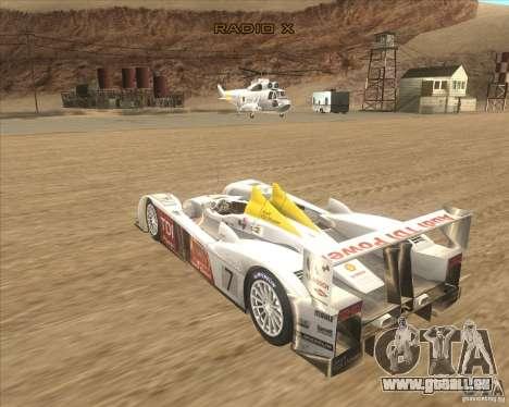 Audi R10 TDI pour GTA San Andreas laissé vue