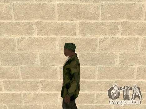 Veste camouflage pour GTA San Andreas troisième écran
