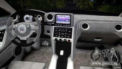 Nissan GTR R35 v1.0 pour GTA 4 vue de dessus