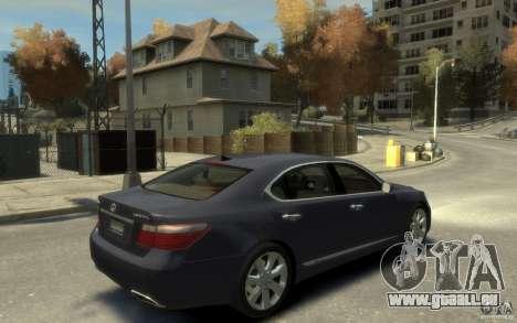 Lexus LS 600h L v1.1 pour GTA 4 est un droit