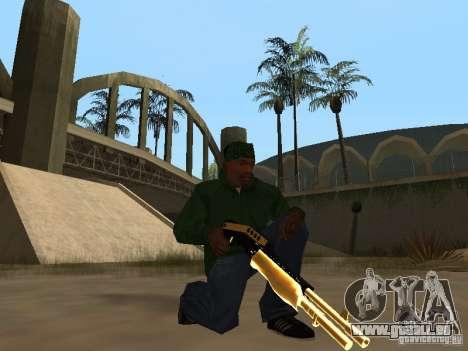 Pak Golden Waffen für GTA San Andreas sechsten Screenshot