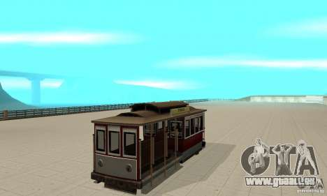 Tram pour GTA San Andreas laissé vue