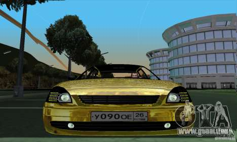 Lada Priora Gold pour GTA San Andreas sur la vue arrière gauche
