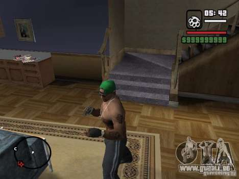 Fingerlose Handschuhe für GTA San Andreas