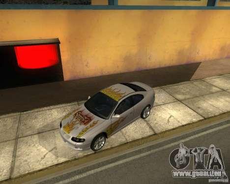Vauxhall Monaro für GTA San Andreas Seitenansicht