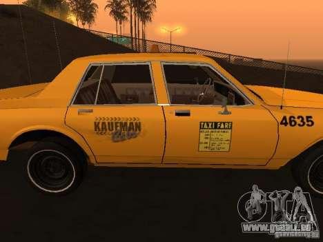 Chevrolet Caprice 1986 Taxi pour GTA San Andreas sur la vue arrière gauche
