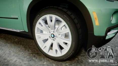 BMW X5 Experience Version 2009 Wheels 223M pour GTA 4 est une vue de dessous