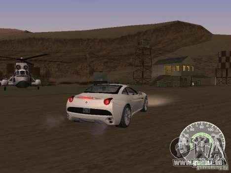 Ferrari California v1 für GTA San Andreas zurück linke Ansicht