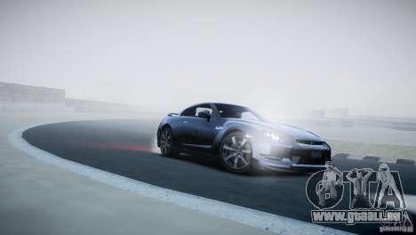 Nissan GT-R R35 V1.2 2010 pour GTA 4 est une vue de l'intérieur