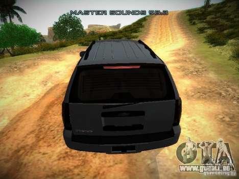 Chevrolet Tahoe HD Rimz pour GTA San Andreas vue de côté