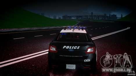 Ford Taurus Police Interceptor 2011 [ELS] für GTA 4-Motor