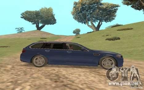 BMW M5 F11 Touring pour GTA San Andreas vue de dessus