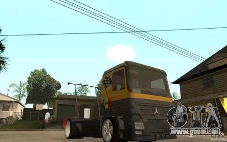 Mercedes Benz Actros Dragster für GTA San Andreas Rückansicht