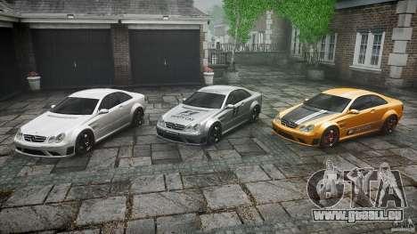 Mercedes Benz CLK63 AMG Black Series 2007 pour GTA 4 est une vue de dessous