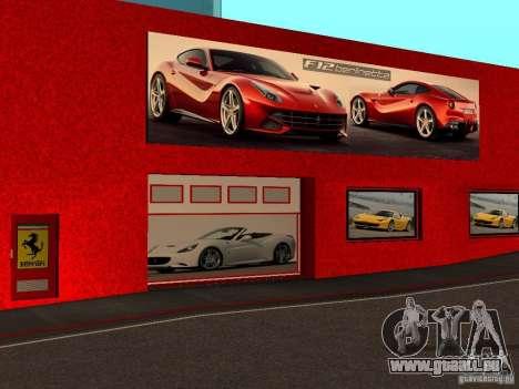 Nouveau Showroom de Ferrari à San Fierro pour GTA San Andreas troisième écran