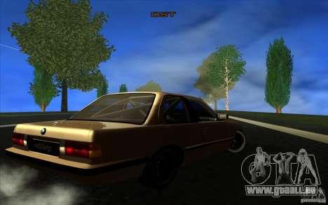 BMW E30 2.7T pour GTA San Andreas vue de droite