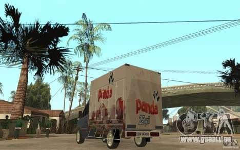 Volkswagen Crafter Ice Dream Box pour GTA San Andreas sur la vue arrière gauche