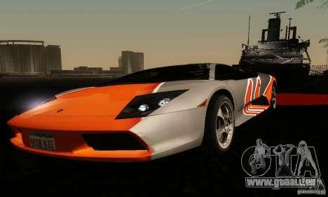 Lamborghini Murcielago für GTA San Andreas Innenansicht