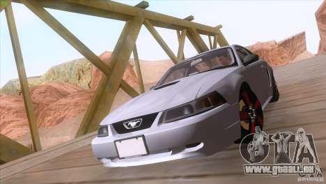 Ford Mustang GT 1999 pour GTA San Andreas vue intérieure