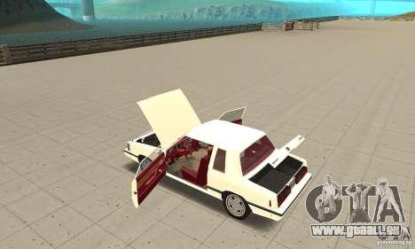 Dodge Aries 1983 pour GTA San Andreas vue intérieure