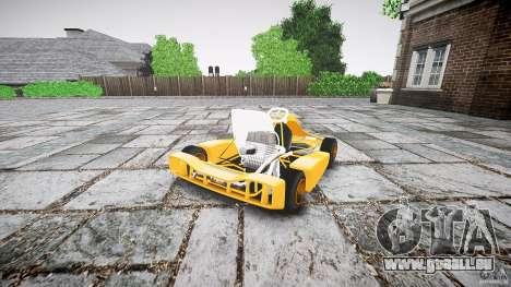 Karting pour GTA 4 Vue arrière de la gauche