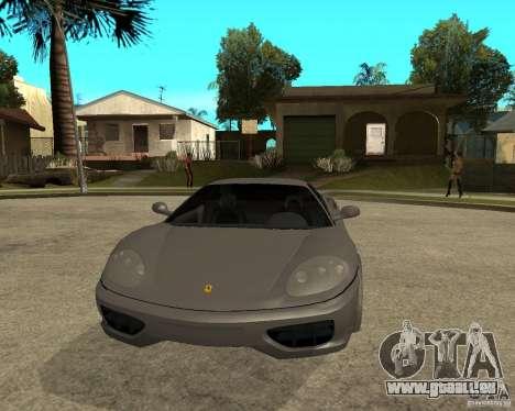 Ferrari 360 modena TUNEABLE pour GTA San Andreas vue arrière