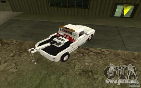 Chevrolet dépanneuse pour GTA San Andreas sur la vue arrière gauche