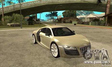 Audi R8 V10 5.2 FSI Quattro pour GTA San Andreas vue arrière
